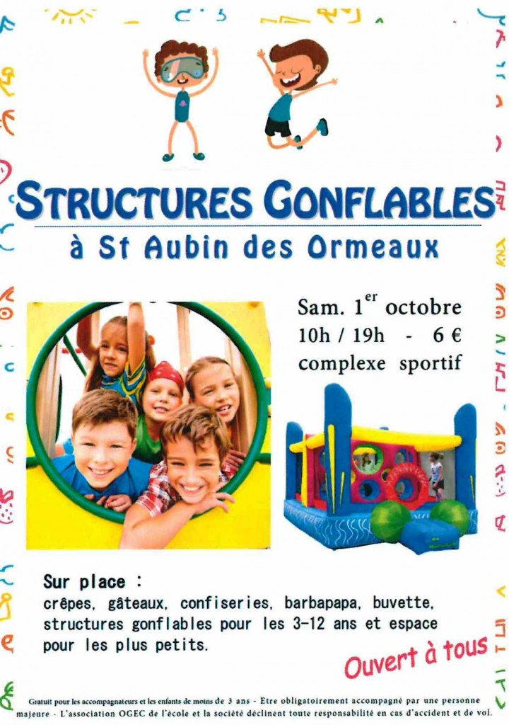 ANIMATION STRUCTURES GONFLABLES @ COMPLEXE SPORTIF